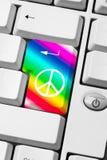 Mensagem da paz e do amor Fotografia de Stock Royalty Free