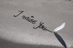 Mensagem da solidão Foto de Stock