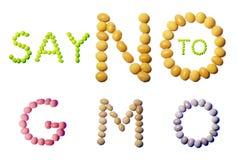 Mensagem das sementes da soja Fotos de Stock