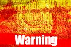 Mensagem de advertência Fotografia de Stock Royalty Free