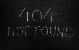 Mensagem de erro 404 não encontrada Fotografia de Stock Royalty Free
