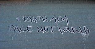 Mensagem de erro 404 não encontrada Imagem de Stock Royalty Free