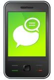 Mensagem de telefone móvel Fotos de Stock