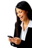 Mensagem de texto de riso Foto de Stock Royalty Free