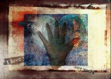 Mensagem de texto do amor Foto de Stock Royalty Free