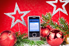 Mensagem de texto a Papai Noel Imagens de Stock Royalty Free