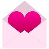 Mensagem do amor Fotos de Stock Royalty Free