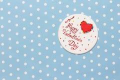 Mensagem do amor do dia de Valentim Fotografia de Stock