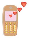 Mensagem do amor do telemóvel Foto de Stock Royalty Free