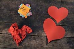 Mensagem do amor e da apreciação Fotografia de Stock Royalty Free