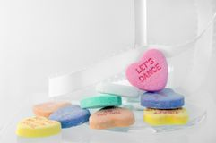 Mensagem do coração Foto de Stock Royalty Free
