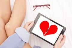 Mensagem do coração quebrada fotos de stock royalty free