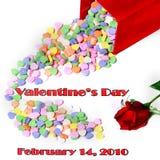 Mensagem do dia do Valentim com tâmara Imagem de Stock