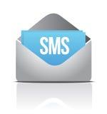 Mensagem do envelope de Sms ilustração do vetor