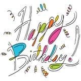 Mensagem do feliz aniversario Fotos de Stock