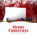Mensagem do Feliz Natal Foto de Stock