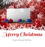 Mensagem do Feliz Natal Fotos de Stock Royalty Free