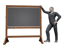 Mensagem do homem de negócios - 3D rendem Fotografia de Stock