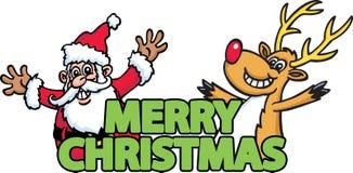 Mensagem do Natal Fotos de Stock Royalty Free