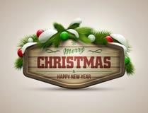 Mensagem do Natal Fotografia de Stock Royalty Free