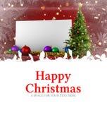 Mensagem do Natal feliz Fotografia de Stock