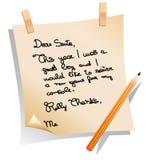 Mensagem do pedido do Natal da criança Fotografia de Stock Royalty Free