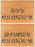 Mensagem do projeto do computador dos gráficos do Web site da Web Foto de Stock