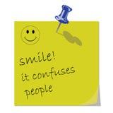 Mensagem do sorriso ilustração do vetor