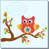 Mensagem doce pequena da coruja Imagem de Stock Royalty Free