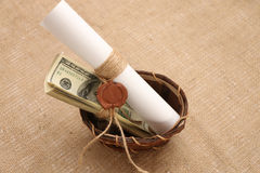 Mensagem dos dólares Fotos de Stock