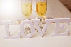 Mensagem e conceito do amor fotos de stock