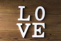 Mensagem e conceito do amor imagem de stock