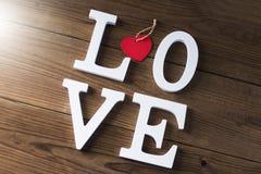 Mensagem e conceito do amor foto de stock
