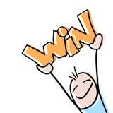Mensagem engraçada da vitória ilustração royalty free