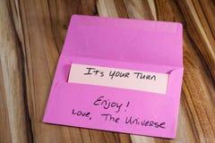 Mensagem espiritual no correio Foto de Stock Royalty Free