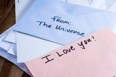 Mensagem espiritual no correio Fotos de Stock Royalty Free