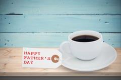 Mensagem feliz do dia de pais foto de stock royalty free
