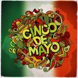 Mensagem festiva colorida de Cinco de Mayo Fotos de Stock