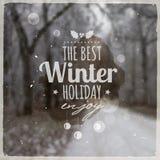Mensagem gráfica criativa para o projeto do inverno Fotografia de Stock Royalty Free
