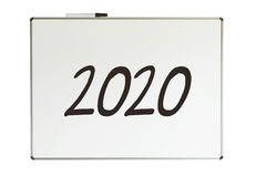2020, mensagem no whiteboard Imagem de Stock Royalty Free