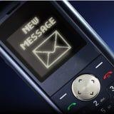Mensagem nova Imagem de Stock