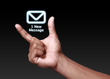 Mensagem nova Fotografia de Stock Royalty Free
