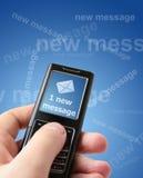 Mensagem nova Fotografia de Stock