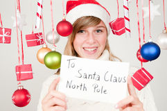 Mensagem a Papai Noel Imagem de Stock