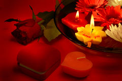 Mensagem romântica do amor Imagens de Stock Royalty Free