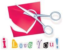 Mensagem secreta do Valentim Imagens de Stock Royalty Free