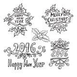 Mensagens dos feriados de inverno Fotografia de Stock Royalty Free