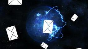 Mensagens globais de Digitas video estoque