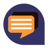 Mensagens ou ícone do diálogo do grupo tricolor Foto de Stock