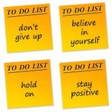 Mensagens positivas Imagem de Stock Royalty Free